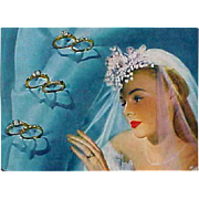 SALE Original 1947 Vogue Fashion Magazine Weddings Jewelry Schiaparelli Eisenberg Cartier