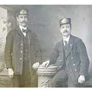1900s Antique Railroad Train Motorman Conductor Operator Uniform Photo