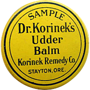 SALE 1930s Salesman's Sample Tin Dr. Korinek's Udder Balm Stayton Oregon