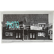 Black and White Vintage Photograph Movie Theatre Nyssa Oregon
