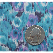 1960s Blue Purple Taffeta Sewing Fabric Mad Men Era Wispy Crisp NOS Material