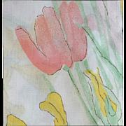 SOLD Vera Neumann Indoor / Outdoor Oval Tablecloth IRIS 70 Inch Round MIP