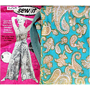 Vintage Sewing Fabric a Pre-Cut Fashion Kit Jump Suit Size Large