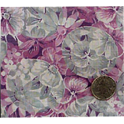 1920s - 1930s Cotton Voile Sewing Fabric Purple Gray Downton Abbey Era