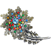 Massive 1930s Rhinestone Brooch Game of Thrones Medieval Costume
