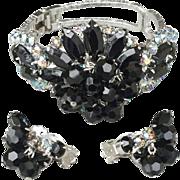 SOLD Spectacular Juliana D & E Rhinestone Clamper Bracelet with Earrings