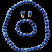 Vintage 1950s Pop Beads Necklace Bracelet Earrings NOS