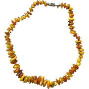 Vintage Raw Amber Bead Necklace 75 + Beads