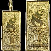 SALE Sterling Pendant Michael Anthony 1996 Olympics Atlanta 100th Commemorative Summer Games