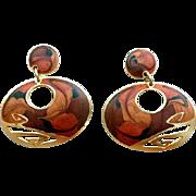 SALE Vintage Edgar Berebi Pierced Earrings Sensual Amber