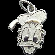 SALE Sterling Silver Bracelet Charm Donald Duck Disney