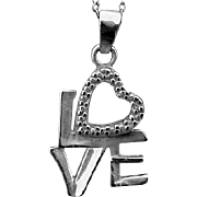 SALE Sterling Silver Love Heart Necklace or Charm 3.1 Grams .925