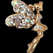 Sparkling Rhinestone Fairy Brooch Fancy Fun