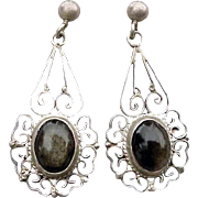 Vintage Sterling Silver with Smoky Quartz .925 Mexico