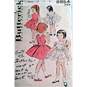 1960s Sewing Pattern Little Girl's Fancy or Play Dress Size / Age 3