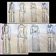 Original 1916 Edwardian Suit Dress Sewing Pattern Bust 34