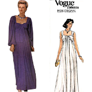 Vintage Sewing Pattern Givenchy Vogue 1530 Evening Dress Wedding Gown Bust 36