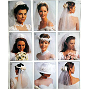Nine Bridal Headpieces Veils Headdresses McCall's 2057 Sewing Pattern