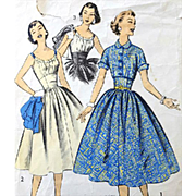 Vintage Sewing Pattern Sundress with Bolero Jacket Extra Small Bust 32