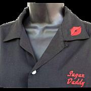 SOLD 1950s Vintage Hilton Bowling Shirt Sugar Daddy Valentine Nebraska Diamond Bar Size Medium