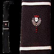 SOLD 1960s Black Necktie Skinny Square Bottom Narrow Neck Tie