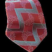 SOLD Late 1940s Vintage Necktie Iridescent Silk Damask Weave Neck Tie