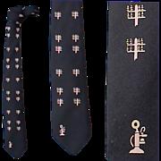 Unique 1960s Vintage Necktie Pink Upright Candlestick Telephones Memory Lane