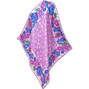 SALE Gorgeous Vera Neumann Silk Scarf Pink Purple Polka Dots