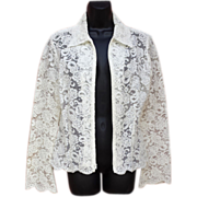 Stunning Lace White Lace Jacket Bust 36 Victor Costa Wedding Worthy