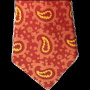 SOLD 1960s Narrow Mod Silk Necktie Paisley ala Beatles Era Necktie
