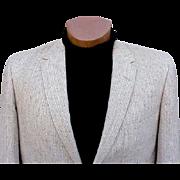 SOLD Vintage 1960s Men's Blazer Sports Coat Jacket Size 44 R Tweed