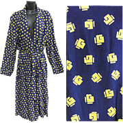 Vintage 1940s Spun Rayon Men's Robe Dressing Gown Medium