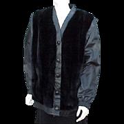 SOLD Vintage Convertible Jacket Vest by Lilli Ann Black Leather & Faux Fur Extra Large XL