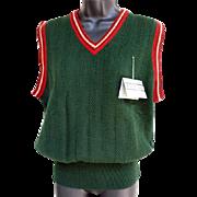Men's Vintage Preppy Sweater Vest Size M - L Mint Unworn Original Tags