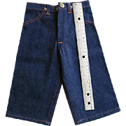 Vintage 1940s Salesman's Sample Men's Big Mac Denim Pants 13 Inch MINT