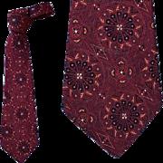 SALE 1930s - 1940s Men's Vintage Necktie Cathedral St. Etienne Du Mont Paris