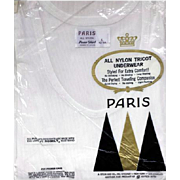 SALE Vintage 1960s Men's Nylon Undershirt Underwear Size Large MIP
