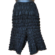 SALE Vintage Black Lace Dance Pantalettes Pantaloons Extra Large Unworn