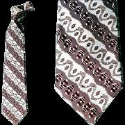 Superb 1950s Men's Wide Necktie Fancy Vintage Fashion Neck Tie