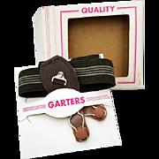 Men's Vintage 1950s - 1960s Garters Sock Supports MIB