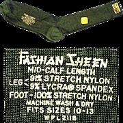 Semi Sheer Nylon Men's Vintage 1960s Dress Socks Sharkskin