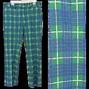 Wild Plaid Vintage Polyester Pants Size Medium Go Golfing