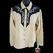 SALE MWT Women's Western Shirt Blouse Adobe Rose XXL Bust 44