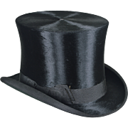 Antique Hawes Beaver Top Hat - 835 Broadway New York - Outstanding Condition