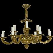 Vintage Brass French Baroque Chandelier