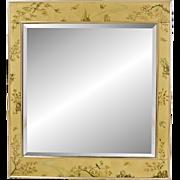 Vintage LaBarge églomisé Mirror - Artist Signed - K Widing 1985