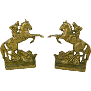 Pair Vintage Brass Pennsylvania State Police Bookends