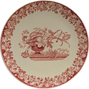 SALE PENDING Vintage Royal Doulton Pomeroy Red Chop Plate - 15 inch