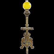 Antique Gilt Bronze & Onyx Floor Lamp - Winged ladies