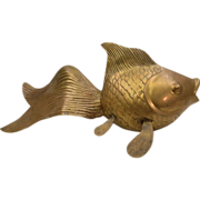 SALE PENDING Mid-Century Brass Koi Fish by Rosenthal Netter Brass